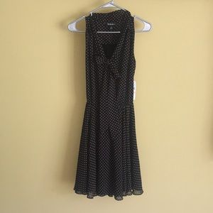 Black and Tan polka dotted dress